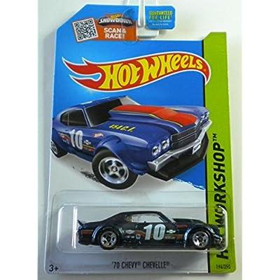 Hot Wheels, 2015 HW Workshop, '70 Chevy Chevelle [Dark Blue] Die-Cast Vehicle #194/250: Toys & Games