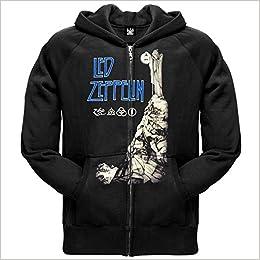 NEW Led Zeppelin /'Vintage Print LZ1/' Zip Hoodie