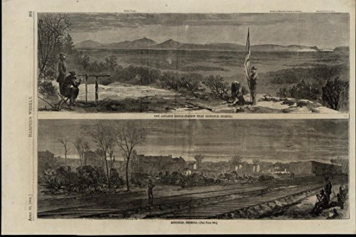 Advance Signal Station Ringgold Georgia Nice 1864 Great Old Print For Display