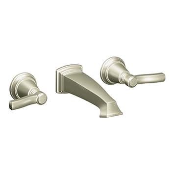 moen ts6204bn rothbury twohandle wall mount bathroom faucet brushed nickel