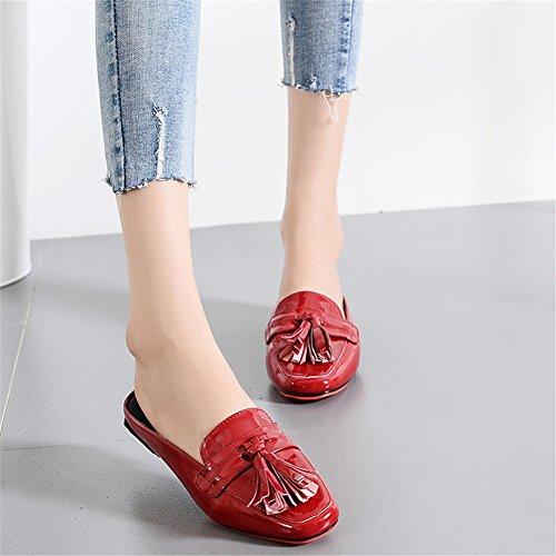 Large Sandali Un Moda Primavera da Tacco per a Pu Punta Estate Piatti Scarpe Donna Sandali Casual Size Chiusa Piatto UqnzdPaaWw