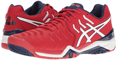 Homme Asics Chaussures 7 Pour resolution® white indigo Red Blue Gel True nXaqpadBw