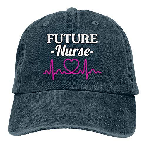 XKAWPC Future Nurse Fashion Baseball Cap Trucker Hat Adult Unisex Adjustable Denim Cap