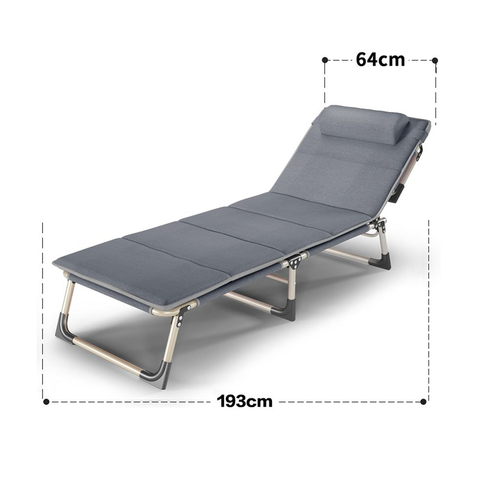 64193cm+mat YNN - Recliners Folding Sheet Person Napping Bed Office Recliner Folding Chair (Size   56  190cm)