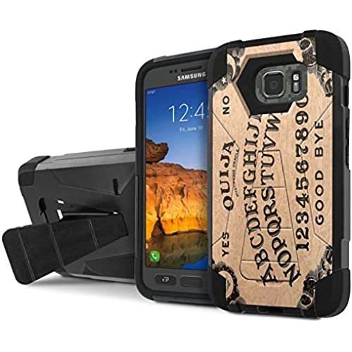 AT&T [Galaxy S7 Active] Armor Case [NakedShield] [Black/Black] Tough ShockProof [Kickstand] Phone Case - [Quija Sales