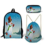 Best River's Edge Products String Lights - iPrint Schoolbag,Pencil Box,Drawstring Bag,Backpacks,3D Print,Skating on ICY River Review