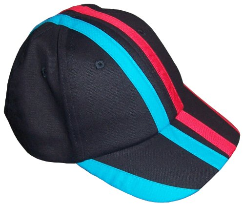 N'ice Caps Unisex Childs Multi Racer Striped Baseball Cap