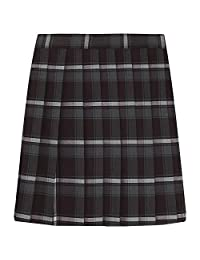 French Toast Big Girls' Plaid Pleated Skirt