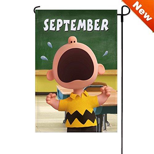September Garden - Jetmax Peanuts SEPTEMBER Garden Flag 12