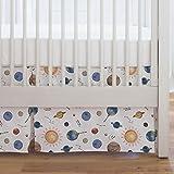 Carousel Designs Solar System Crib Skirt Single-Pleat 17-Inch Length - Organic 100% Cotton Crib Skirt - Made in the USA