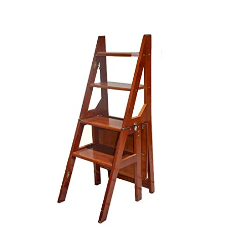 Pleasing Nwn Wooden Folding Step Stool Portable Ladder Chair Stool Inzonedesignstudio Interior Chair Design Inzonedesignstudiocom