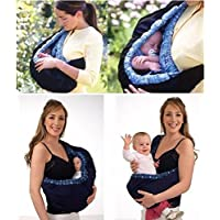 Babymoon Multifunctional Lightweight Nursing Breastfeeding Swaddle Support - Baby Sling Carrier Wrap - Baby Ergonomic Wrap Holder (Pink Chex)