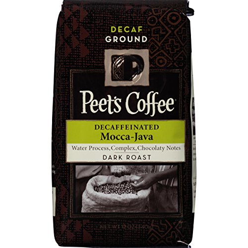 Peet's Coffee, Decaf Mocca-Java Coach, Dark Roast, 12-Ounce bag