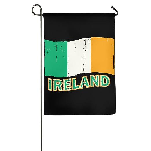 Jjkkfg H Bandera De Irlanda Envejecida Diseño Gráfico Con
