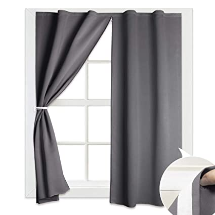 Amazoncom Ryb Home Blackout Curtain Shade Hang Without Rod