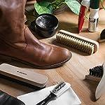 Navaris Set brosses à chaussures - Kit 8 outils d'entretien - 6x brosse 1x gomme 1x tissu de polissage - Nettoyage cuir… 10