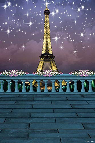 (Tower Flower Brick Floor Star 6' W x 9' H Video Studio Background Digital Printed Seamless Photography Background RKA Series Photographic Backdrop)