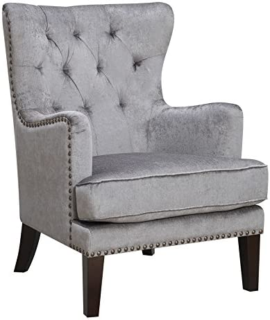 Cheap HomeRoots Contemporary Tufted Wingback Accent Chair living room chair for sale