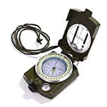 GWHOLE Compass Waterproof Compass with Pouch Lanyard