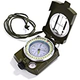 GWHOLE Military Lensatic Sighting Compass Waterproof for Outdoor Activities