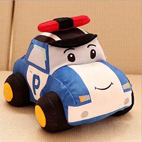 "Dongcrytal 11.8"" Police Car Model Soft Pillows Stuffed Plush"