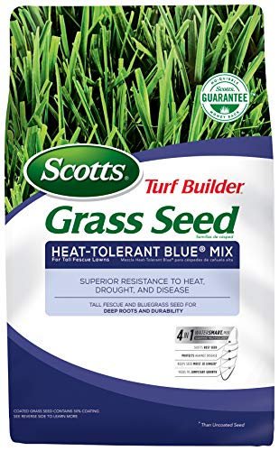 Scotts 18296 Turf Builder Grass Seed-Heat Tolerant Blue Mix, 3-Pound, 3 LB,
