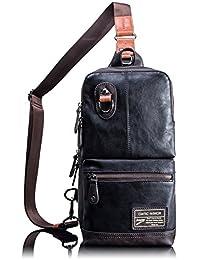 Leaper Single Strap Sling Shoulder Outdoor Cycling Hiking Bag for Men Women(Black)