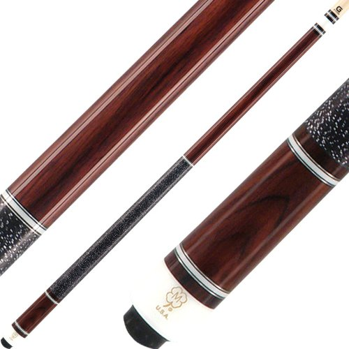 McDermott Cues - G Series - East Indian Rosewood with 5 Ivory and Silver Rings - Includes Case - 19oz (Series G Cue Pool Mcdermott)
