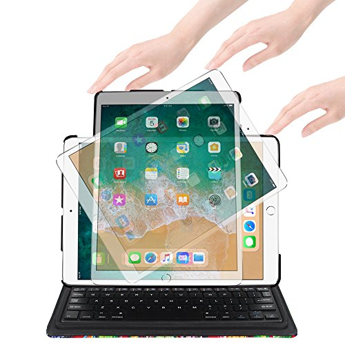 Fintie iPad Pro 10.5 Keyboard Case - 360 Degree Rotating Stand Cover Built-in Wireless Bluetooth Keyboard Apple iPad Pro 10.5 inch 2017 Tablet, Love Tree by Fintie (Image #3)