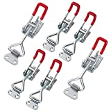 CBTONE 4 PCS Toggle Latch Clamp and 2 PCS Lockable Pull Action Latch Clamp, Holding Capacity 220Lbs and 397Lbs, Heavy Duty Adjustable and Easy to Install