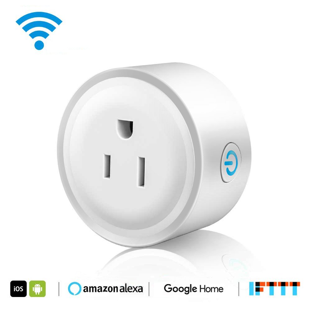 WiFi Smart Plug Mini Outlet, Works with Amazon Alexa Echo, Google Assistant, Support IFTTT (White) (1 Pack) by EECOO (Image #1)