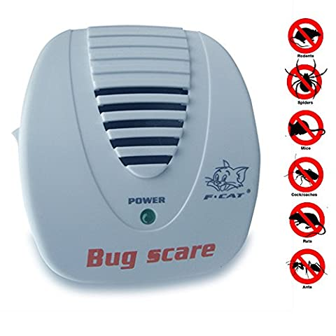 Fortunate Kiss Ultrasonic Pest Repeller - Rejects Mice, Rats, Roaches, Spiders, And More (Ultrasonic Electric Repellent)
