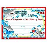 Shark Party LARGE Invitations - 20 Invitations 20 Envelopes