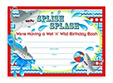 Shark Party LARGE Invitations - 20 Invitations 20 Envelopes