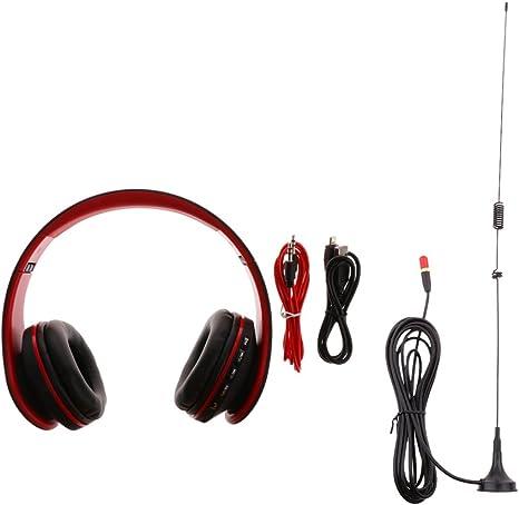 fityle magnético coche antena UHF VHF + auriculares con micrófono estéreo ligero ajustable plegable Auriculares con micrófono para smartphones iPhone iPod Ordenador Portátil MP3: Amazon.es: Electrónica