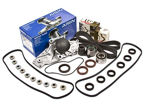 Acura Water Pump Gasket - Evergreen TBK286VCA Fits 97-04 Honda Accord Odyssey Pilot Acura 3.0 3.2 & 3.5L Timing Belt Kit Valve Cover Gasket AISIN Water Pump