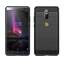 Lenovo Phab 2 Plus Case,MYLB Ultra Slim Lightweight Carbon Fiber Design Flexible Soft TPU Case Highstrength Shockproof Protective Back Cover to Protect the Mobile Phone for Lenovo Phab 2 Plus (Black)
