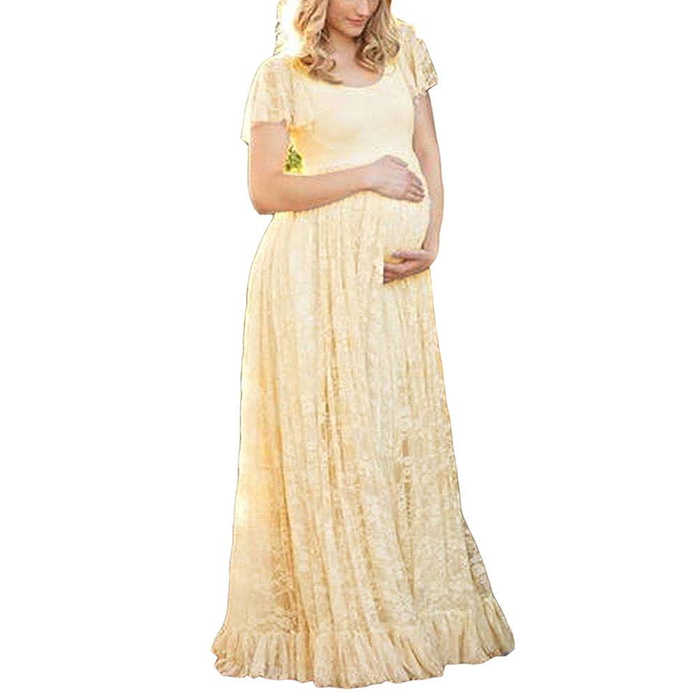 Vestido de fotografía de maternidad, vestido de mujer embarazada, accesorios de maternidad photoshoot embarazo maxi vestidos: Amazon.es: Ropa y accesorios