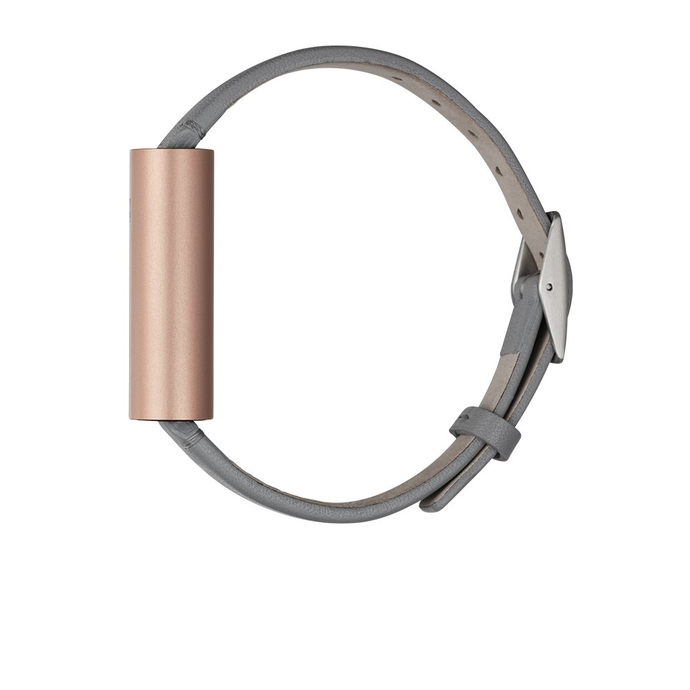 Misfit Ray - Fitness + Sleep Tracker with Gray Leather Band (Rose Gold) by Misfit Wearables (Image #3)