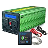 EDECOA 3000W Power Inverter Modified Wave DC 12V to 240V AC Converter with LCD Display, Remote Controller and Silent Fan