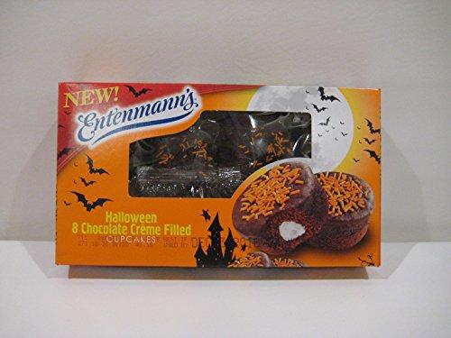 Entenmann's Halloween Chocolate Creme Filled Cupcakes, (8)- Cupcakes, 12.7 oz.