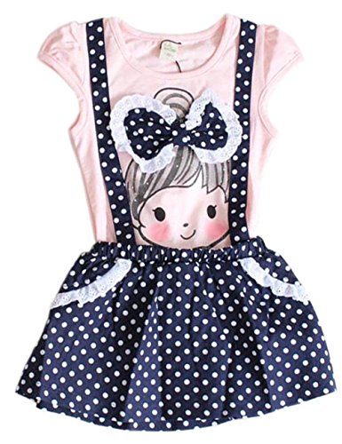 Baby Girls Kids Princess Polka Dot One-pieces Dress Skirt Child Dress Belt (2-3 Years, pink) (Ruffled White Pettiskirt)