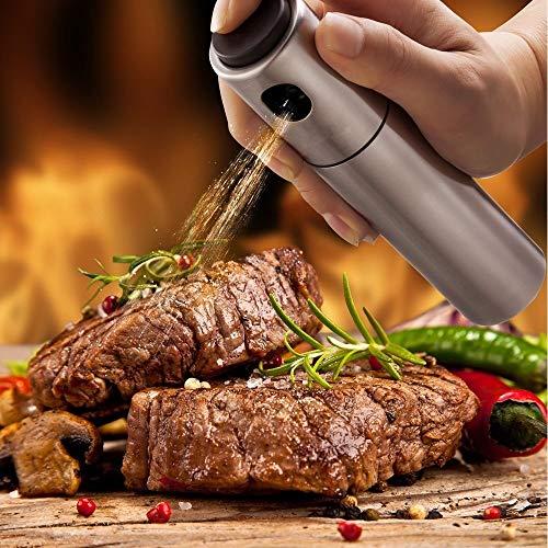 aiyoo pulverizador de aceite dispensador Premium de acero inoxidable botella de vinagre de aceite de oliva botella de Spray...