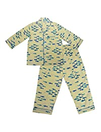 GiggleBuns Cotton Yellow Fish Night Suit Set for baby boys sleepwear for kids