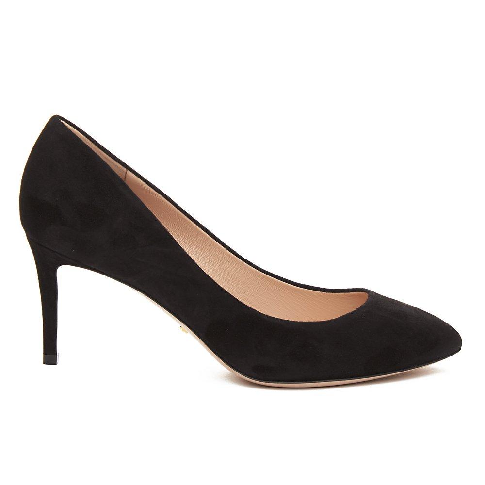 65b43b7dca5 Gucci Women s Suede Removable Web Bow Pump Shoes Black  Amazon.co.uk  Shoes    Bags