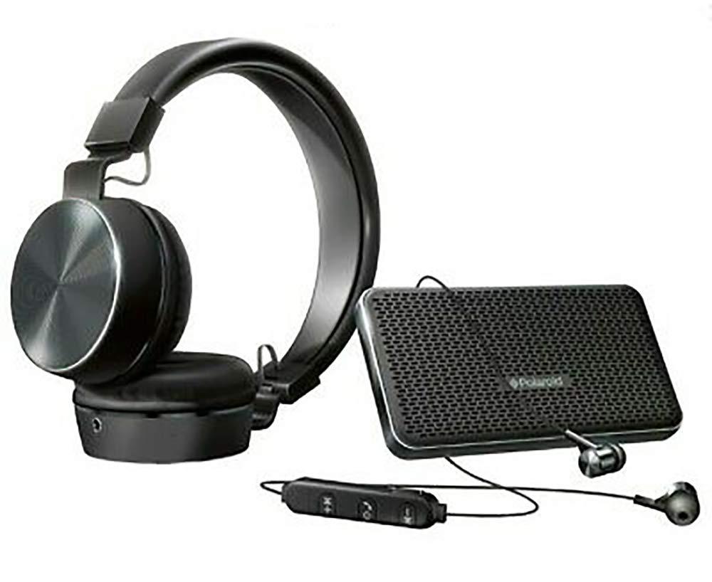 Polaroid Bluetooth HD Wireless Audio Bundle Gift Pack (Black)