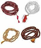 Gift OF Forests Combo Set of 4 Pooja Jap Malas (Rudraksha/Chandan Scented/Sphatik & Red color sandalwood Scented Jaap Mala) Meditation Bead Prayer