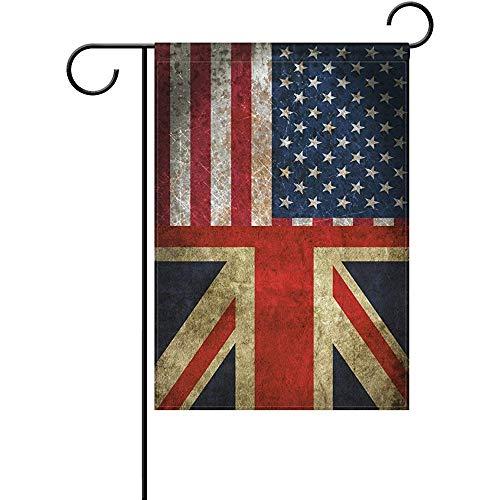 Jack Combination - seiruh Vintage American Union Jack Friendship Combination A Memorial Day Polyester Garden Flag Banner 12