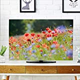 aolankaili Cover for Wall Mount tv Red Bushes Cover Mount tv W25 x H45 INCH/TV 47'-50'