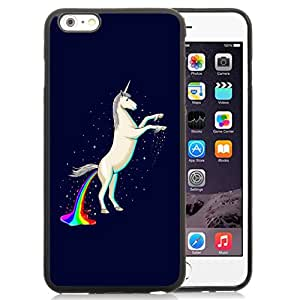 Fashionable Custom Designed iPhone 6 Plus 5.5 Inch Phone Case With Unicorn Shitting Rainbows_Black Phone Case